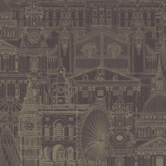 Victorian Style London Wallpaper