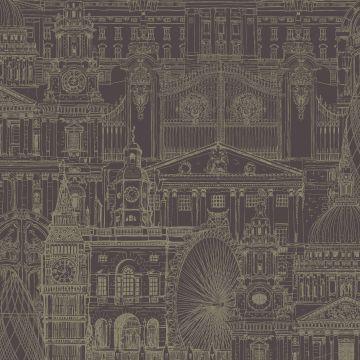 Victorian Style London Wallpaper