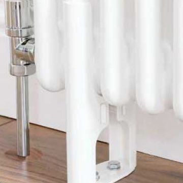 Plain white column radiator feet for 4 column radiator