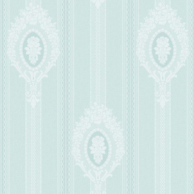 Medallion and Stripe Wallpaper