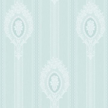 Medallion and Stripe Wallpaper