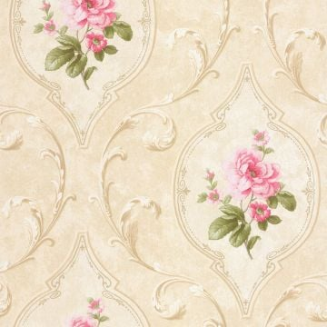 Flowers in Pointed Frames Wallpaper