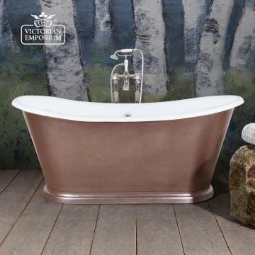 Caravelle Painted Bateau bath