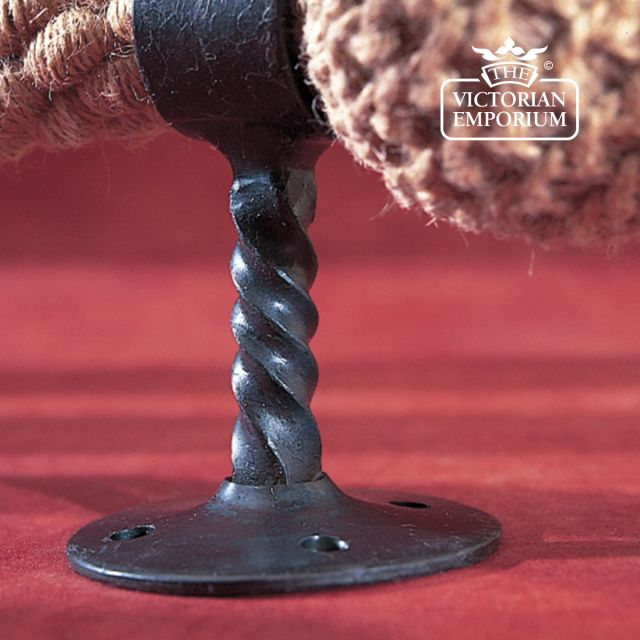 Wrought iron barrier rope handrail bracket