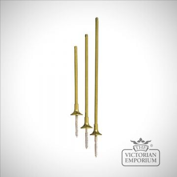 Brass Extension Rods for Curtain Holdbacks