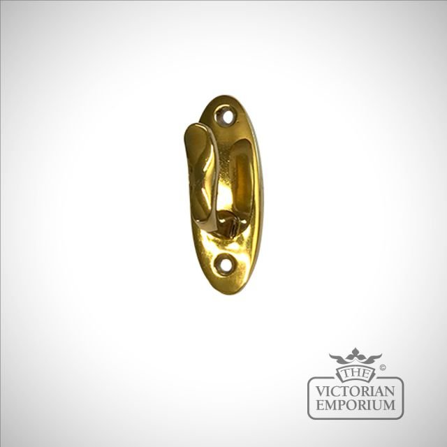 Brass Regency Tassel Hook with backplate - choice of sizes