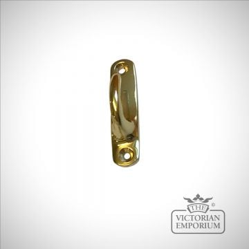 Brass Venice Tassel Hook with backplate