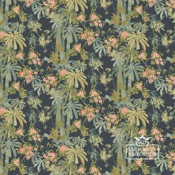 Bamboo Garden wallpaper in navy, green, red or pink