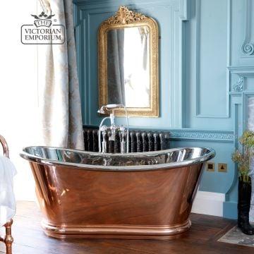 Bulle Bath in Copper, Nickel or Brass