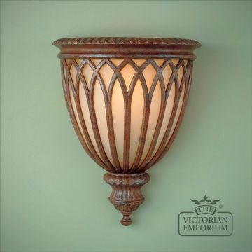 Stirling wall uplight in British Bronze