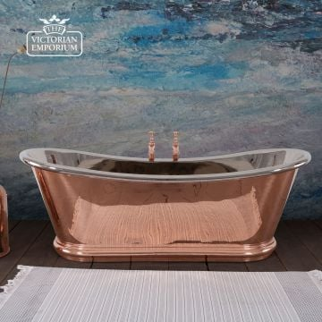 Bulle Reserve Bath with a Copper Exterior and Nickel Interior