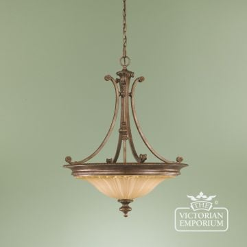Stirling Pendant Chandelier in British Bronze