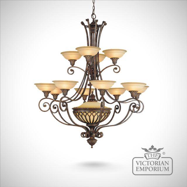 Stirling 12 light chandelier