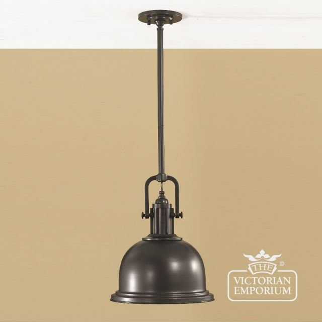 Parker pendant in dark bronze