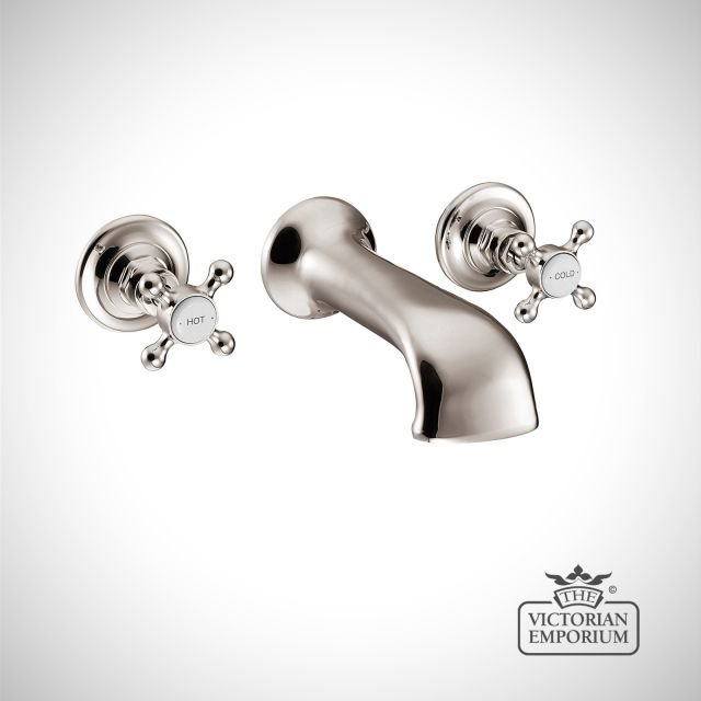 Wall Mounted Three Piece Bath filler - in Chrome, Nickel or Copper
