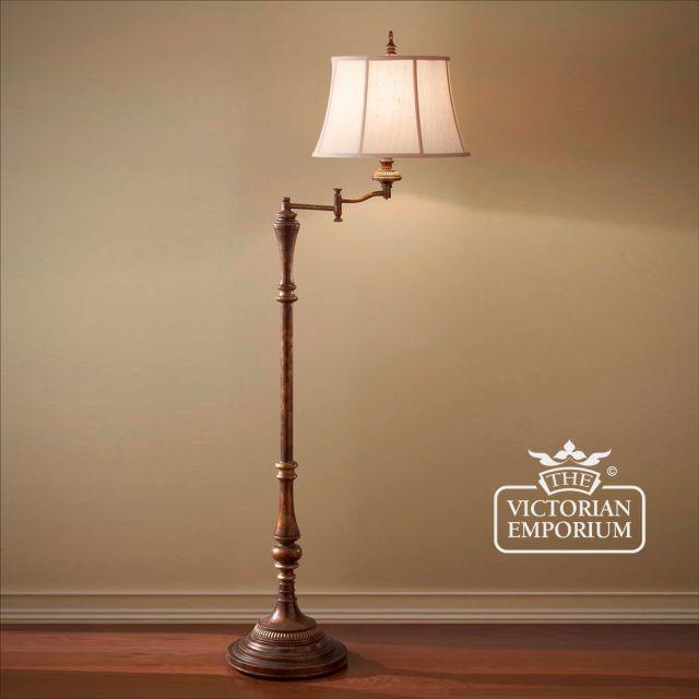 Gibson swivel floor lamp