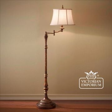 Floor lamps interior lights the victorian emporium gibson swivel floor lamp aloadofball Gallery