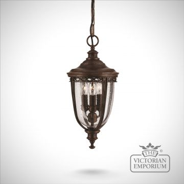 Bridle medium chain lantern in british bronze finish