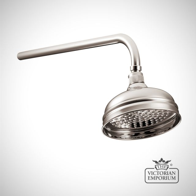 """Shower Rose - 6""""- in Chrome, Nickel or Copper"""