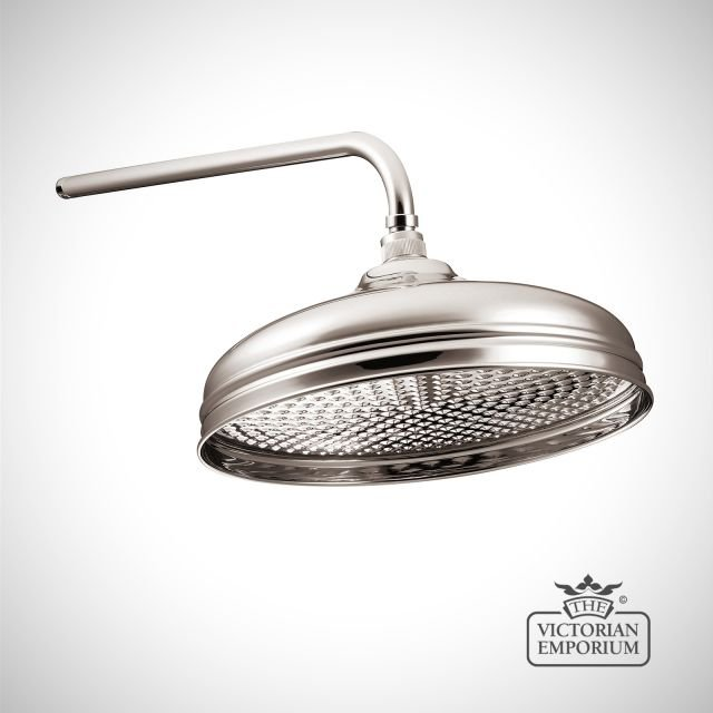 """Shower Rose - 12""""- in Chrome, Nickel or Copper"""