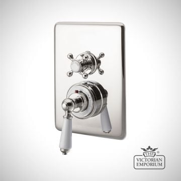 Concealed Dual Control Thermostatic Valve - 1 or 2 Outlets - in Chrome, Nickel or Copper