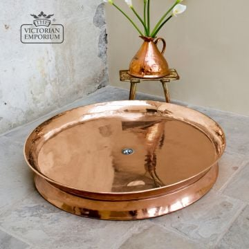 Copper Circular shower tray in a choice of sizes