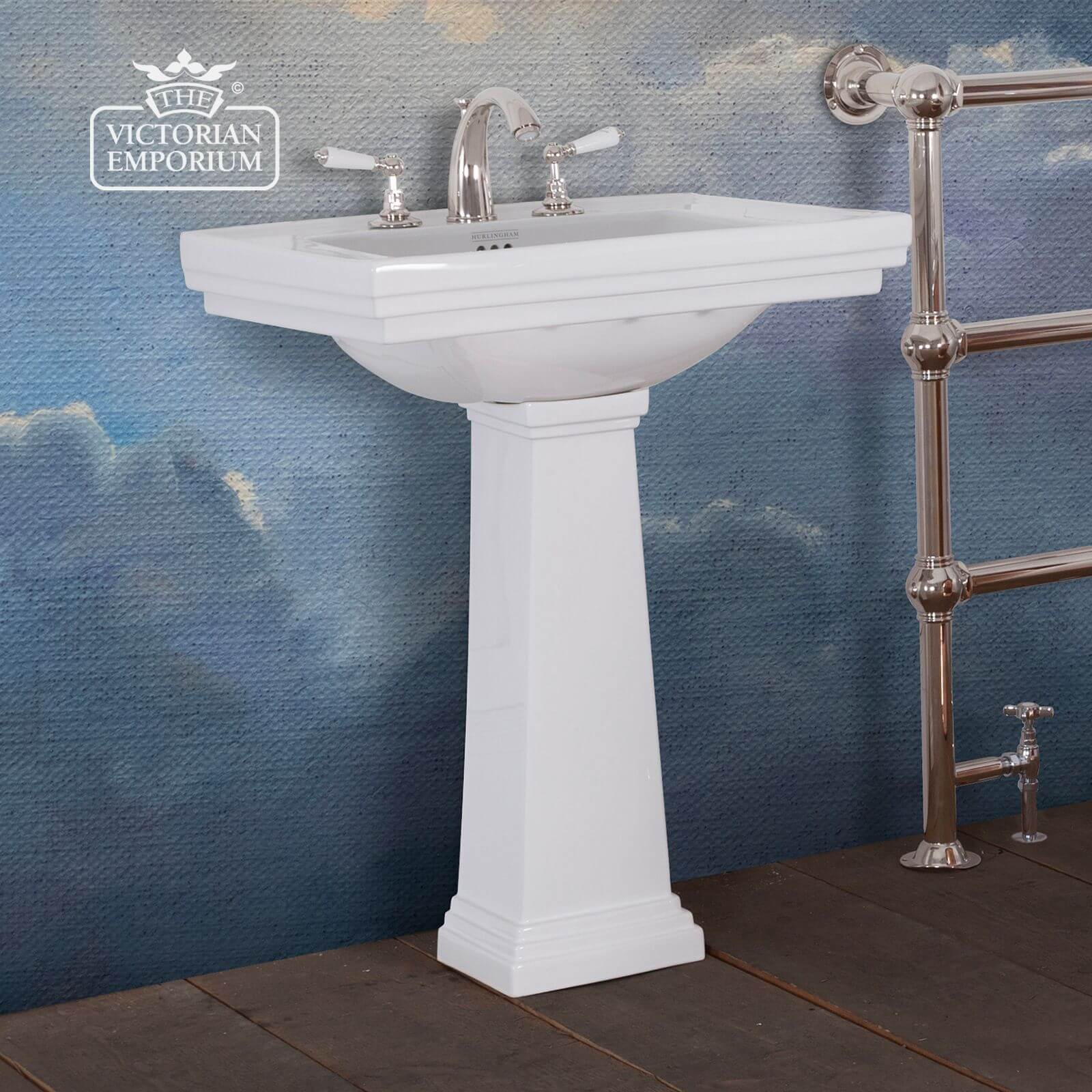 Highgate Pedestal Basin For Victorian Bathrooms Small Or Large Size