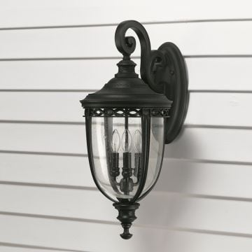 Bridle wall light in black - large