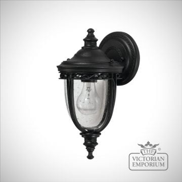 Bridle wall lantern in black finish - small