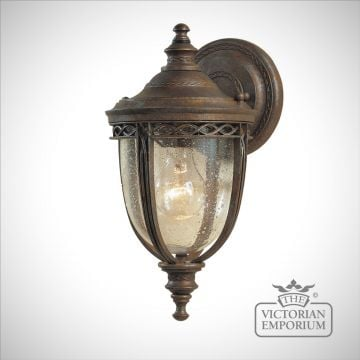 Bridle small wall light in British Bronze