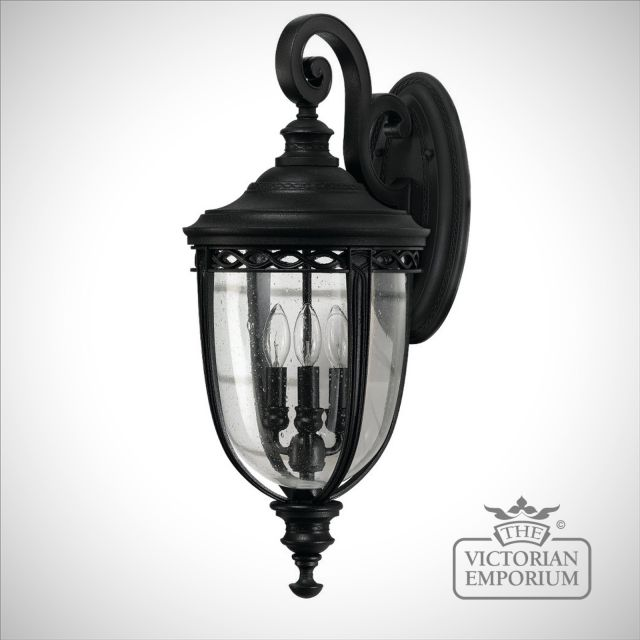 Bridle extra large wall lamp in black
