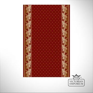 Royal Aubuson Stair Runner Carpet in Red in a selection of widths