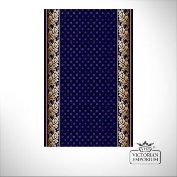 Royal Aubuson Stair Runner Carpet in Blue in a selection of widths