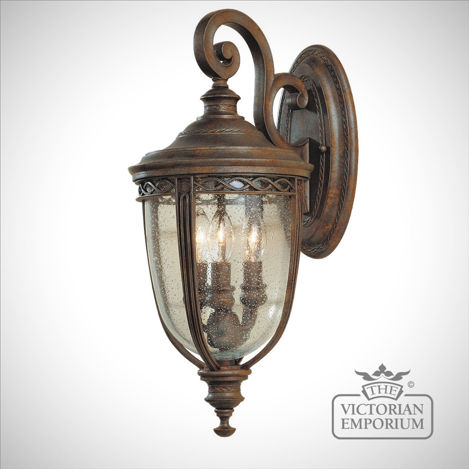 Large Decorative Wall Lights : Bridle extra large wall light in British Bronze finish Outdoor Wall Lights