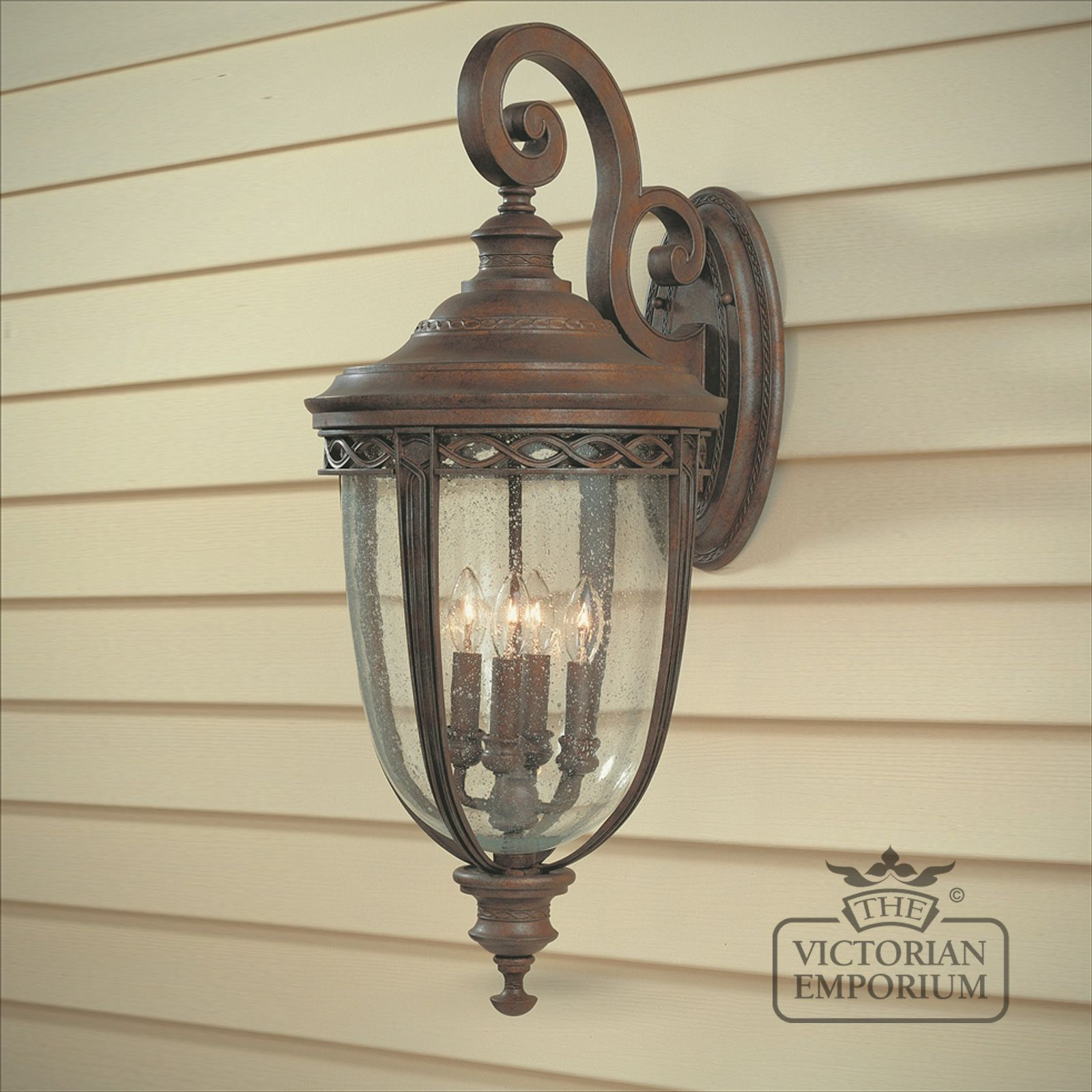 Bridle Extra Large Wall Light In British Bronze Finish