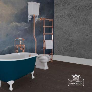 Hampton High Level Toilet, Cistern and Flush Pipe Kit