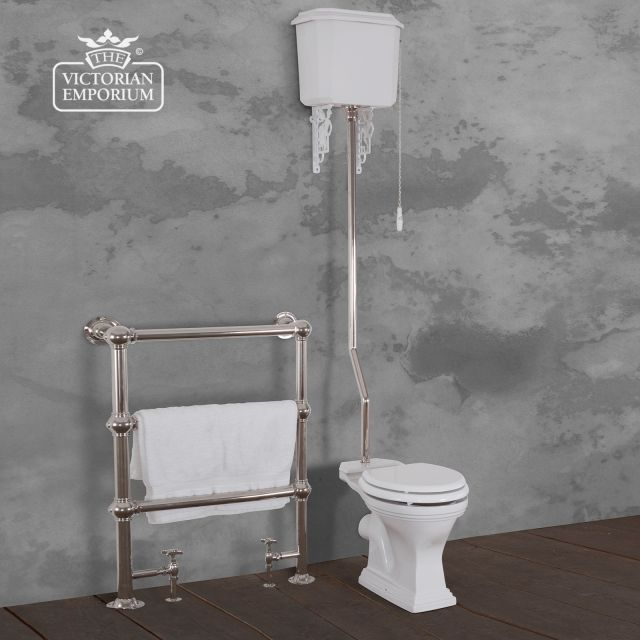 Highgate High Level Toilet, Cistern and Flush Pipe Kit