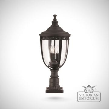 Bridle medium pedestal lamp in black