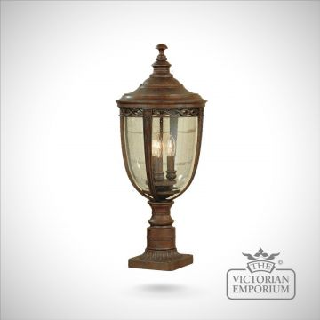Bridle medium pedestal in british bronze finish