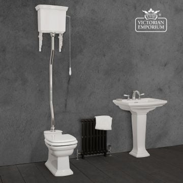 Chichester High Level Toilet, Cistern and Flush Pipe Kit