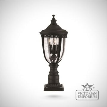 Bridle large pedestal lamp in black