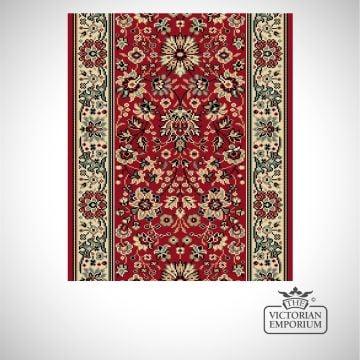 Victorian Stair Carpet Runner - style AV59111 in Red