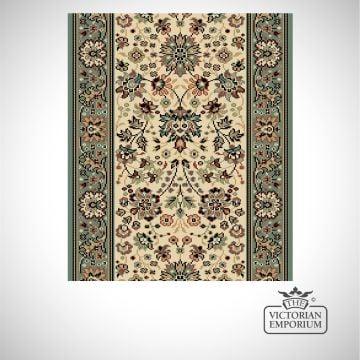 Victorian Stair Carpet Runner - style AV59111 in Aqua Multicoloured