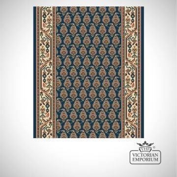 Victorian Stair Carpet Runner - style AV59110 in Navy Pattern
