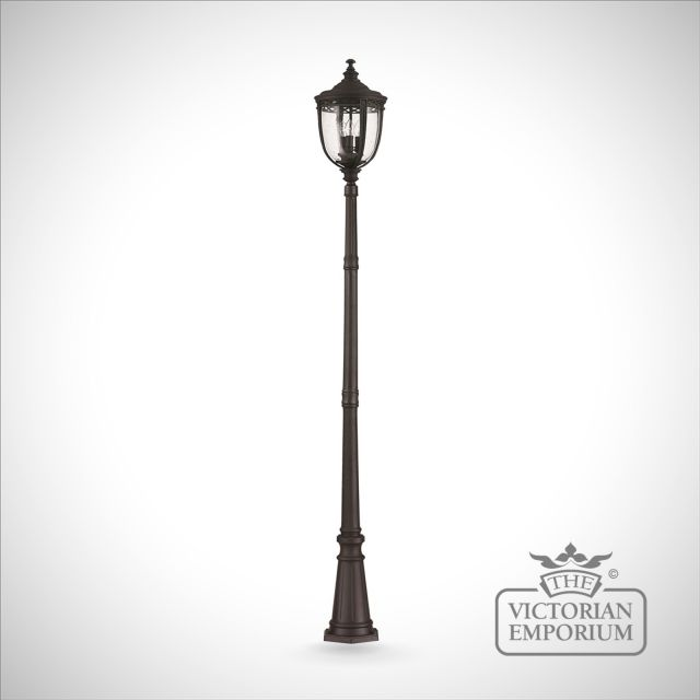 Bridle large lamp post in black finish