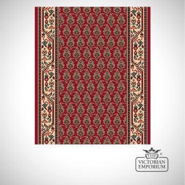 Victorian Stair Carpet Runner - style AV59110 in Red Pattern