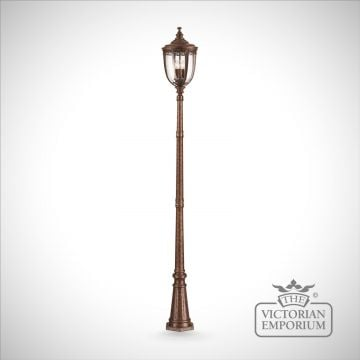Bridle large lamp post in british bronze finish