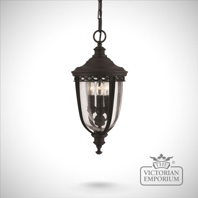 Bridle medium chain lantern in black finish