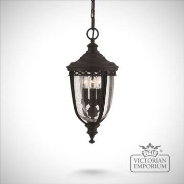 Bridle medium chain lantern in black finish