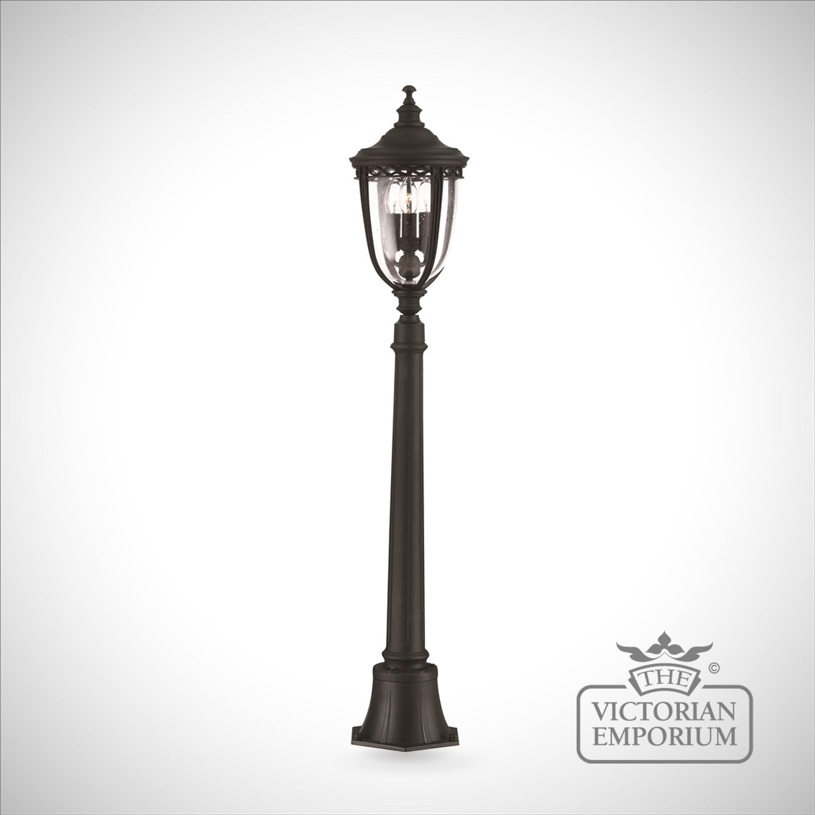 Feiss English Bridle Medium Pedestal Lantern Light Black: Bridle Medium Bollard Sized Lamp Post In Black Finish